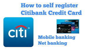 how to self register citibank credit card mobile banking net banking