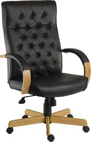 traditional leather office chairs. Warwick Noir Traditional Black Leather Office Chair Chairs U