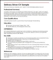 Cv For Driver Job Delivery Driver Cv Sample Myperfectcv