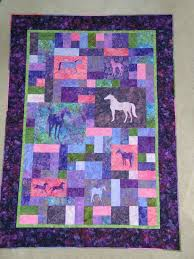 114 best Crafts - Quilting - Applique images on Pinterest ... & Amazing horse quilt in purples and pinks, so pretty. Adamdwight.com