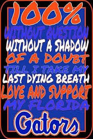 Image result for gators through thick and thin
