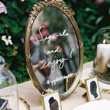 Wedding Mirror Signs Aren Going Anywhere Here Are We Love Welcome Sign Diy Weddings Sarah Types Decor Most Delightful Way Budget Sarahtypes Hand Lettered Brides