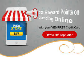 You can redeem all the reward points earned through yes prosperity rewards plus credit card on the official website of yesrewardz. 2x Reward Points On Online Spends With Yes Bank Credit Cards Cardexpert