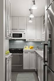 Small Narrow Kitchen Astounding Clever Design In Neutral White Narrow Kitchen Layout