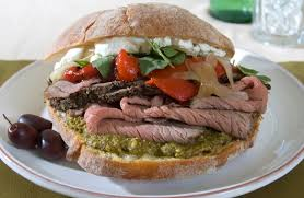 roast beef sandwich recipe. Perfect Roast Rare Roast Beef Sandwich With Goat Cheese And Pistachio Pesto And Recipe S