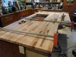 unfinished cherry wood custom diy butcher block countertops for kitchen island ideas