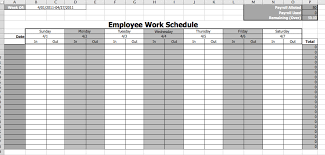 Employee Work Schedule Template Microsoft Office Templates