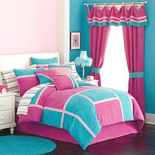 Bedroom:Cute Girls Bedroom Design With Turquoise Pink Color Schemes And  Dark Wood Flooring Ideas