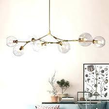 globe light chandelier gold globe lamp globe branching bubble glass pendent light chandelier living dinning room globe light