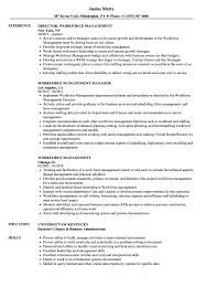 Workforce Management Resume Samples Velvet Jobs