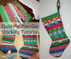 Quilt-As-You-Go Christmas Stocking Tutorial – Part One – Super Mom ... & Quilt-As-You-Go Christmas Stocking Tutorial – Part One – Super Mom – No  Cape! Adamdwight.com