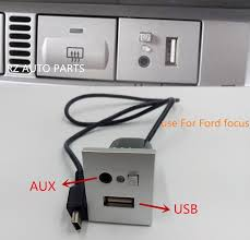 online get cheap ford changer aliexpress com alibaba group ford aux input harness Ford Aux Input Wiring Harness silver car 2in1 aux usb slot interface with mini usb cable adapter accessories for ford focus usb aux