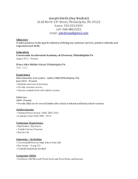 example of simple resumes template example of simple resumes