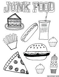 Food Coloring Pages Junk Food Coloring Page By Via Food Chain