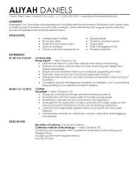 Cv For Part Time Job Student Job Resume Examples Template College Sample Part