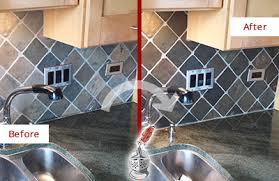 caulking kitchen backsplash. Before And After Picture Of A Kitchen Blacksplash Caulked To Avoid Water Damage Caulking Backsplash