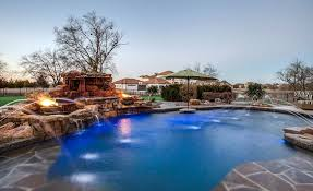 inground pools with waterfalls and hot tubs. Fire Bowl Swimming Pool Water Features Around Hot Tub Inground Pools With Waterfalls And Tubs