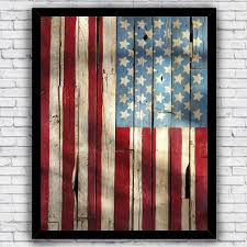 american flag stars and stripes rustic