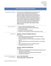 How To Write A Car Salesman Resume Online Resume Builders