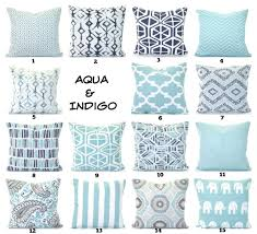 Etsy Throw Pillows Aqua Navy Throw Pillow Covers Cushions Decorative Throw Pillows