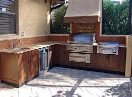 L-shaped Outdoor Kitchen Cabinet With Marble Top