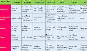 Weekly Filipino Meal Plan In 2019 Meals For The Week
