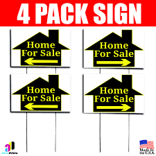 10x Home For Sale Signs Left Right Arrow Double Sided Real Estate