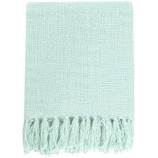 Seafoam Green Throw Blanket