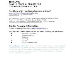 Usajobs Resume Enchanting Usa Jobs Resume Example Job Resume Builder Resume Example Jobs