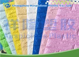 custom design 3d brick foam wallpaper