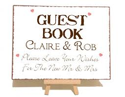 Personalised Vintage Guest Book Sign Personalised Wedding Sign