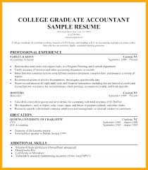 Sample Resume For College Students With No Job Experience Recent