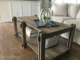 Diy rustic coffee table Tables Ideas Rustic Farmhouse Coffee Table Featuring Sawdust Stitches Ana White Ana White Rustic Farmhouse Coffee Table Featuring Sawdust
