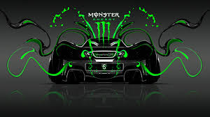 monster energy mclaren p1 back plastic car
