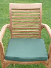 teak stacking chair cushion green