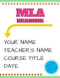 Mla Proper Heading Mla Format Heading Poster Classroom Smorgasbo A Rd Pinterest