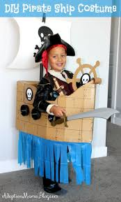 how to make a homemade pirate ship costume out of cardboard dollar finds