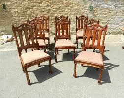 antique oak dining chairs uk