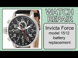 Invicta Force Model 1512 Battery Replacement
