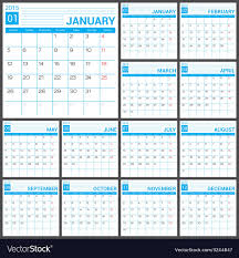 Simple Calendar Template 2015 2015 Full Calendar Blue Template