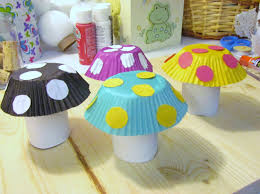 Craft How To Make A Mushroom Craft From Toilet Paper Tubes Cupcake
