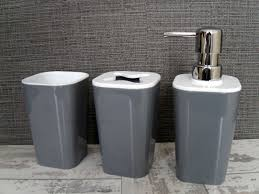 bathroom sets grey