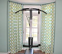 image of fantastic bay window curtain rods