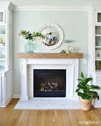 wood beam fireplace mantels wood beam mantel coastal fireplace makeover with marble herringbone tile wood beam wood beam fireplace mantels