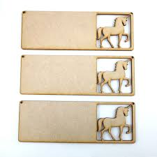 details about 3x mdf magic unicorn sign horse wood craft shape plaque hanger blank baby room