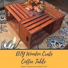 diy wooden crate coffee table the