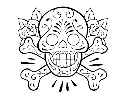 Disegno Di Tatuaggio Di Teschio Da Colorare Acolorecom