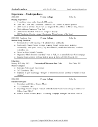 Best Track And Field Resume Contemporary - Simple resume Office .