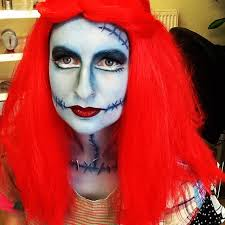 makeup at work today sally from the nightmare before lashes and putting my wrapping stocking and wig ing skills to good use