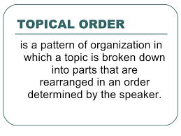 Topical Pattern Cool Speech Organization